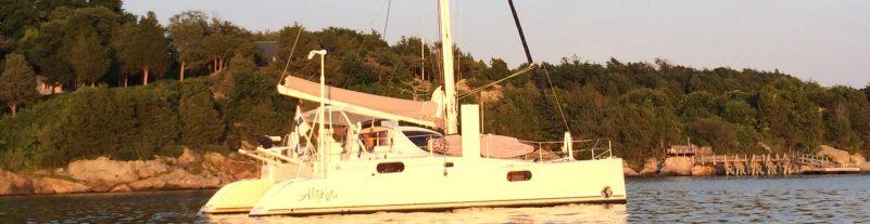 Evening sun at anchor