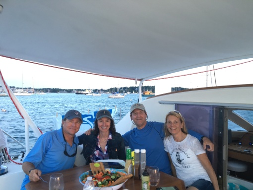 Dinner tastes great after a sail