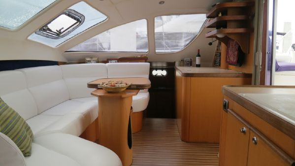 Spacious living area on Catamaran