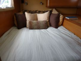 One of two comfortable bunks