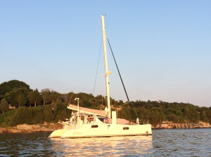Anchored in the evening sunligh