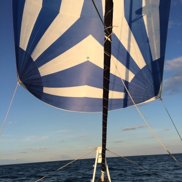 Sun and wind in the sails.