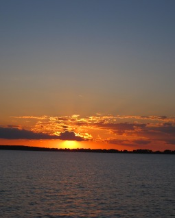 Summer sunset at sea