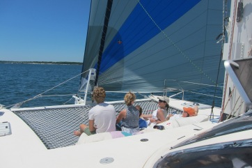 Charter our catamaran out of Newport RI