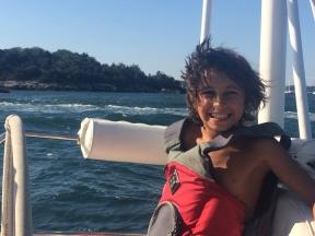 Young future sailor