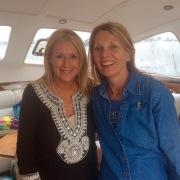 Patti enjoying her chartersail in Newport