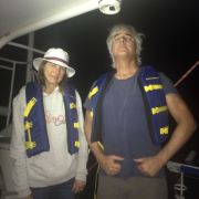 Lori and Bill all set for their charter sail on the AlyKat