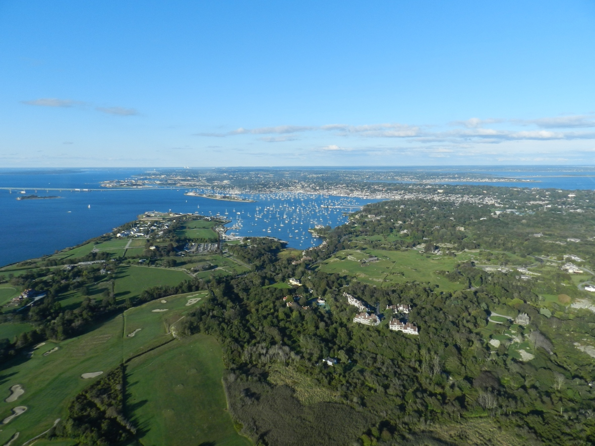 Aerial Photo From Robinson R44 Helicopter by Michael Kagdis