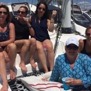 Birthday sail on catamaran charter