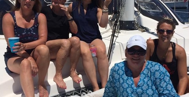 Birthday sail on catamaran charter