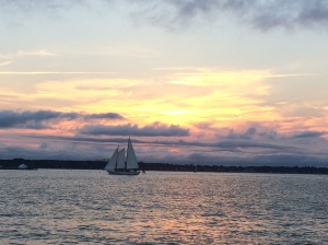 evening catamaran sail