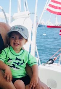 Catamaran sailor toddler
