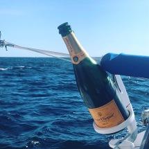Celebration on catamaran