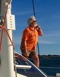 Enjoying the view at sea