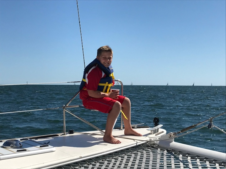 Best seat on the catamaran