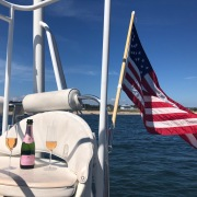 Anniversary sail on catamaran