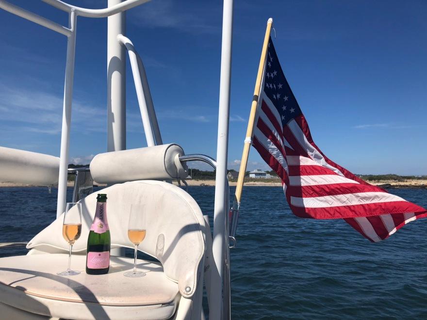 Anniversary sail on catamaran