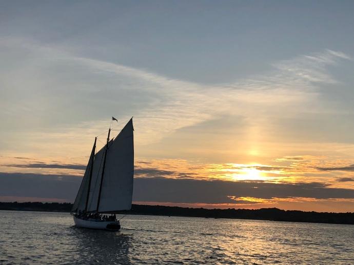 Beautiful sunset sail