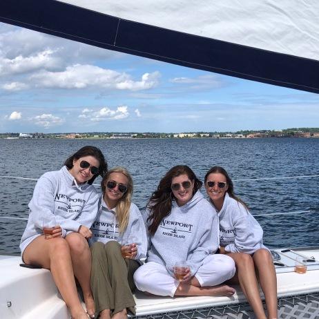 Newport RI sweatshirts at sea