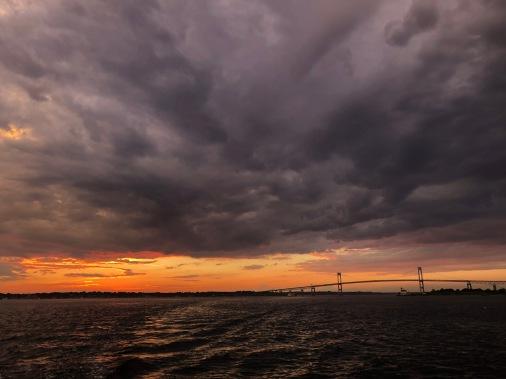 Post thunder sunset