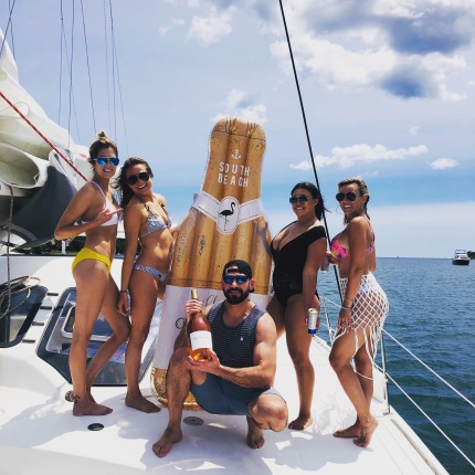 Summer rosé party onboard