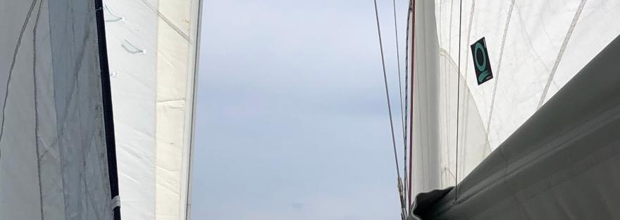 Sailing towards Castle Hill